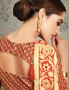 photo of Beige Color Party Wear Saree In Art Silk Fabric With Weaving Work And Beautiful Blouse
