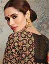 photo of Weaving Work On Black Color Art Silk Fabric Party Wear Saree With Amazing Blouse