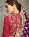 photo of Purple Color Party Wear Saree In Art Silk Fabric With Weaving Work And Beautiful Blouse