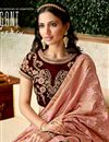 photo of Embroidered Wedding Wear Lehenga Choli In Brocade And Velvet Fabric Peach Color