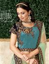 photo of Sea Green Color Sangeet Wear Lehenga With Embroidery Work In Jacquard Silk Fabric