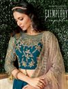 photo of Navy Blue Color Party Wear Lehenga Choli In Satin Silk Fabric With Embroidery Work