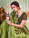 photo of Party Style Green Color Classy Art Silk Fabric Printed Saree
