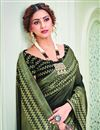 photo of Party Style Black Color Beautiful Printed Saree In Art Silk Fabric