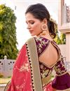 photo of Silk Fabric Traditional Wear Trendy Pink Color Weaving Work Saree