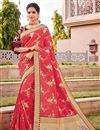 image of Silk Fabric Traditional Wear Trendy Pink Color Weaving Work Saree