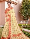image of Beige Color Traditional Wear Trendy Silk Fabric Weaving Work Saree