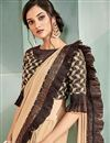 photo of Embroidery Work On Art Silk Fabric Designer Ready To Wear One Minute Saree In Beige Color With Attractive Blouse