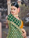 photo of Mustard Color Party Wear Chic Weaving Work Viscose Fabric Saree