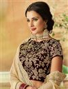 photo of Beige Embroidered Net Fabric Party Wear Lehenga With Enchanting Blouse