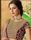 photo of Art Silk Fabric Wedding Wear 3 Piece Lehenga In Wine With Embroidery Work