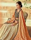 photo of Cream Designer Bridal Lehenga With Embroidery Work On Art Silk Fabric