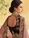 photo of Embroidery Work On Pink Art Silk Fabric Occasion Wear Lehenga