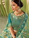 photo of Art Silk Fabric Designer Saree In Sea Green Color With Embroidery Designs And Attractive Blouse