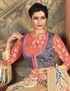 photo of Beige Function Wear Designer Embroidered Saree In Art Silk Fabric