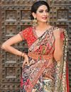 photo of Black Function Wear Designer Art Silk Fabric Embroidered Saree