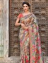 image of Black Function Wear Designer Art Silk Fabric Embroidered Saree