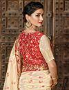 photo of Art Silk Fabric Cream Function Wear Designer Embroidered Saree