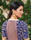 photo of Orange Art Silk Fabric Traditional Wear Designer Embroidered Saree