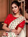photo of Sangeet Wear Off White Color Chic Border Work Saree In Georgette Silk Fabric