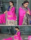 photo of Art Silk Fabric Magenta Color Festive Wear Saree With Weaving Work