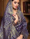 photo of Designer Party Wear Fancy Navy Blue Saree In Art Silk With Weaving Work