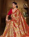 photo of Beige Designer Party Wear Art Silk Fancy Weaving Work Saree