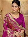 photo of Art Silk Fabric Magenta Color Festive Wear Saree With Weaving Work And Attractive Blouse