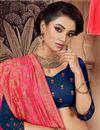 photo of Art Silk Fabric Embroidery Work Designer Bridal Wear Navy Blue Color Lehenga With Fancy Dupatta