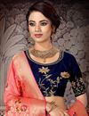 photo of Embroidered Art Silk Fabric Designer 3 Piece Lehenga In Navy Blue Color With Fancy Dupatta