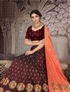 photo of Occasion Wear Lehenga In Art Silk Fabric Brown Color With Fancy Dupatta