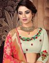 photo of Beige Color Art Silk Fabric Designer 3 Piece Lehenga Choli With Fancy Dupatta