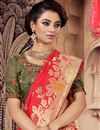 photo of Embroidered Occasion Wear Lehenga In Art Silk Fabric Mehendi Green Color With Fancy Dupatta