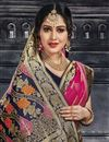 photo of Art Silk Fabric Dark Pink Festive Wear Saree With Jacquard Work And Designer Blouse