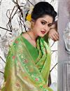 photo of Art Silk Fabric Weaving Work Sangeet Wear Green Color Saree With Blouse