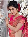 photo of Rani Color Art Silk Fabric Wedding Wear Saree With Weaving Work