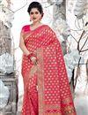 image of Rani Color Art Silk Fabric Wedding Wear Saree With Weaving Work