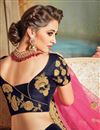 photo of Embroidered Navy Blue Color Velvet Fabric Festive Wear Lehenga With Embroidery Work