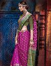 photo of Magenta Weaving Work Wedding Wear Fancy Art Silk Saree