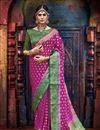 image of Magenta Weaving Work Wedding Wear Fancy Art Silk Saree
