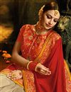 photo of Reception Wear Designer Art Silk Cream Color Saree With Embellished Blouse