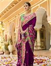 photo of Eid Special Purple Art Silk Fabric Festive Wear Saree With Embroidery Work