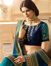 photo of Embroidered Satin Fancy Half Half Designer Saree