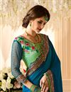 photo of Art Silk Designer Embroidered Half Half Saree