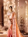 image of Fancy Fabric Function Wear Designer Saree With Embellished Blouse