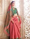 photo of Pink Function Wear Banarasi Silk Saree With Weaving Work