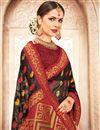 photo of Weaving Work On Black Banarasi Silk Festive Wear Saree