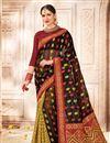 image of Weaving Work On Black Banarasi Silk Festive Wear Saree