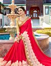 photo of Function Wear Crimson Color Georgette Designer Embroidered Saree