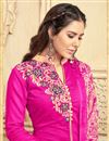 photo of Straight Cut Chanderi Tani Suit With Threadwork